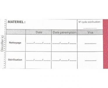 Témoin de stérilisation, vapeur, étiquettes double enduction, médical, pharma